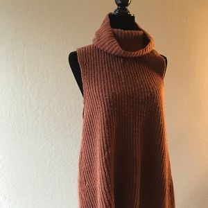 Free People Sleeveless Funnel Neck Sweater